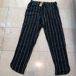 NWT American Eagle Black & White Stripe Trousers